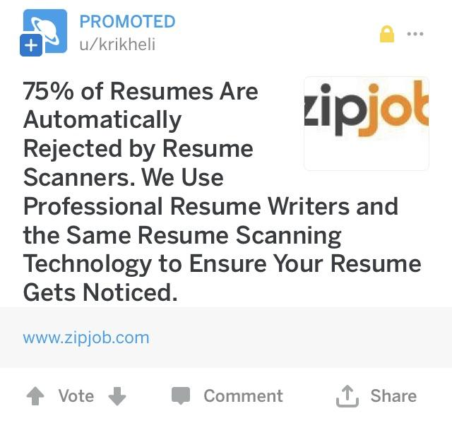 We\u0027re at a point where people want us to pay them to write a resume