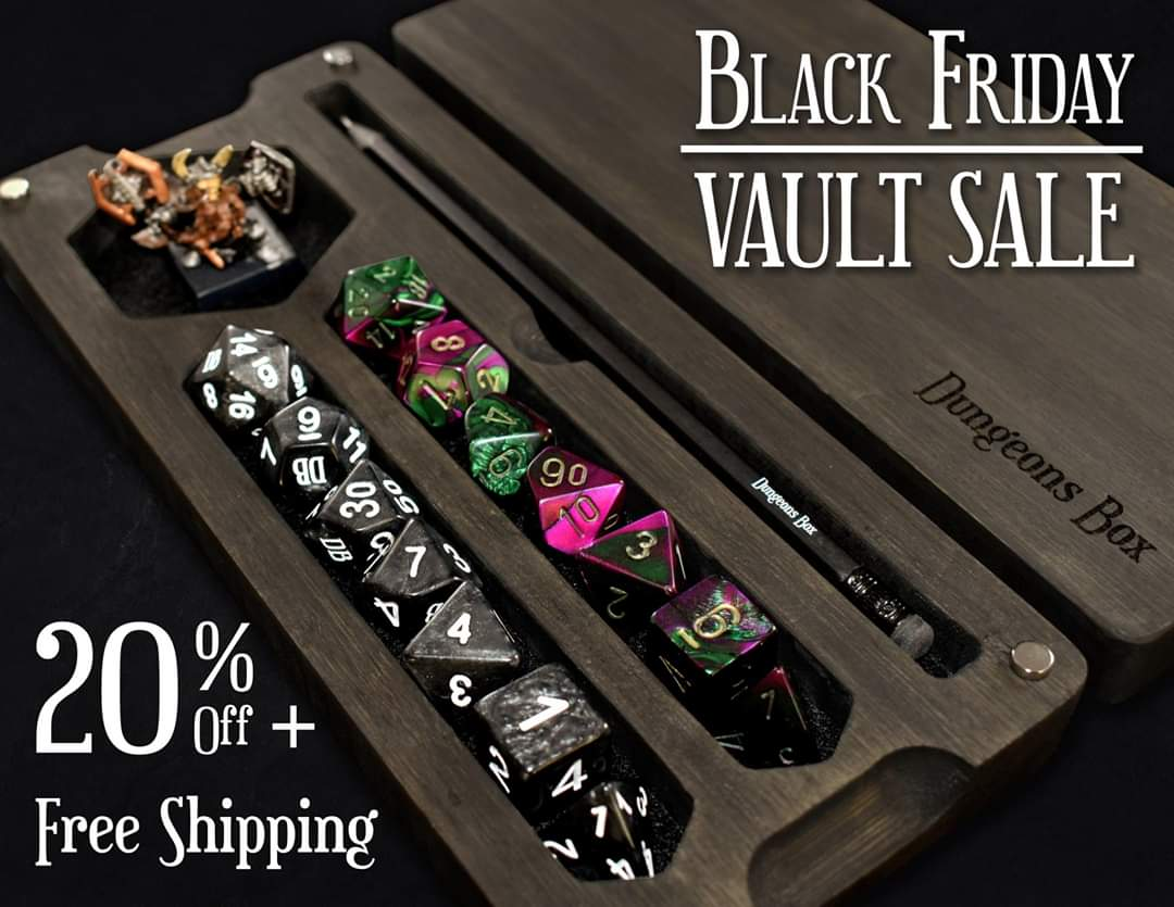 Our Largest Discount Ever Coming This Black Friday Don T Miss Out Join Now At Dungeonsco Com Tabletoprpg