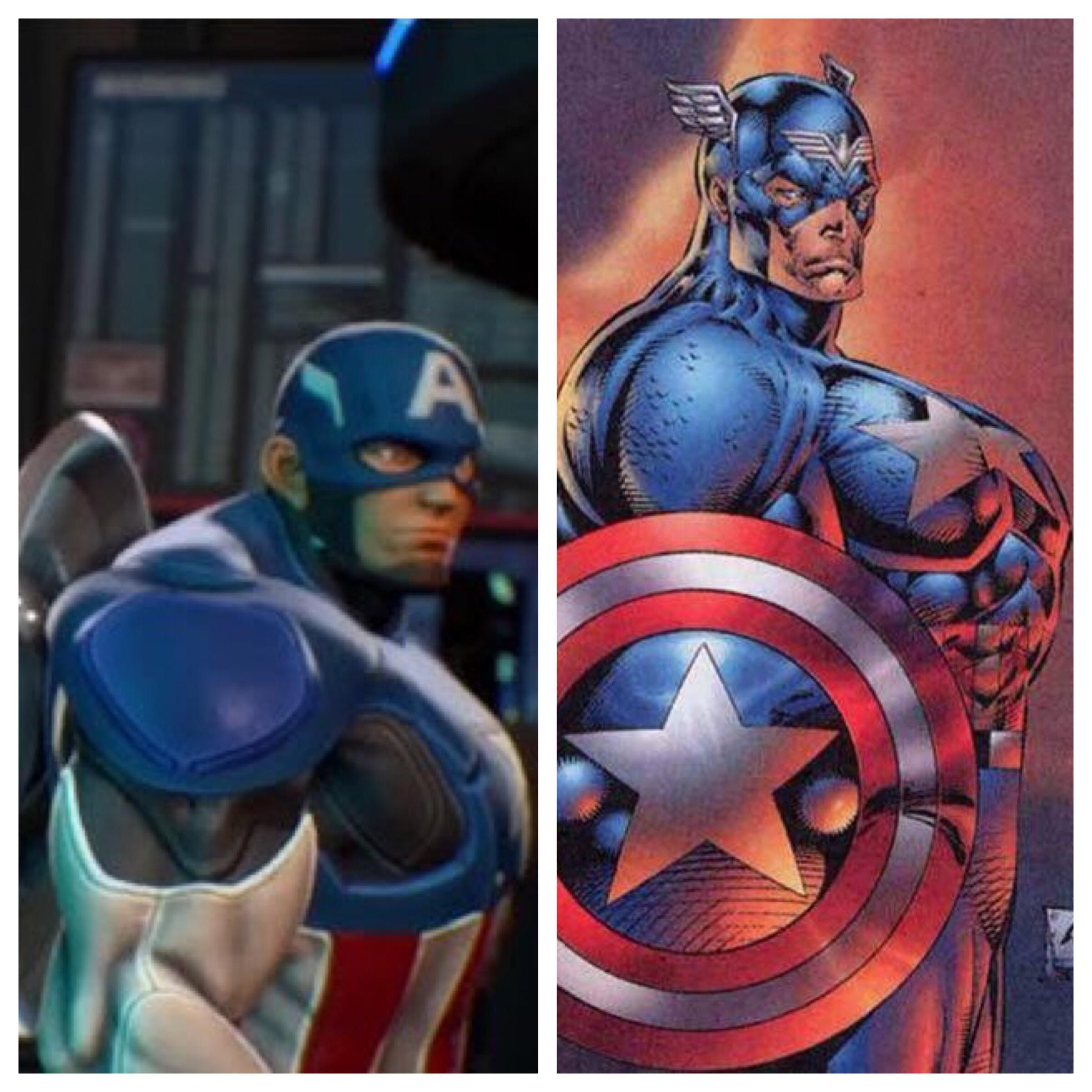 Comic Art Glad Capcom Based Their Captain America Model On Actual Comic Art
