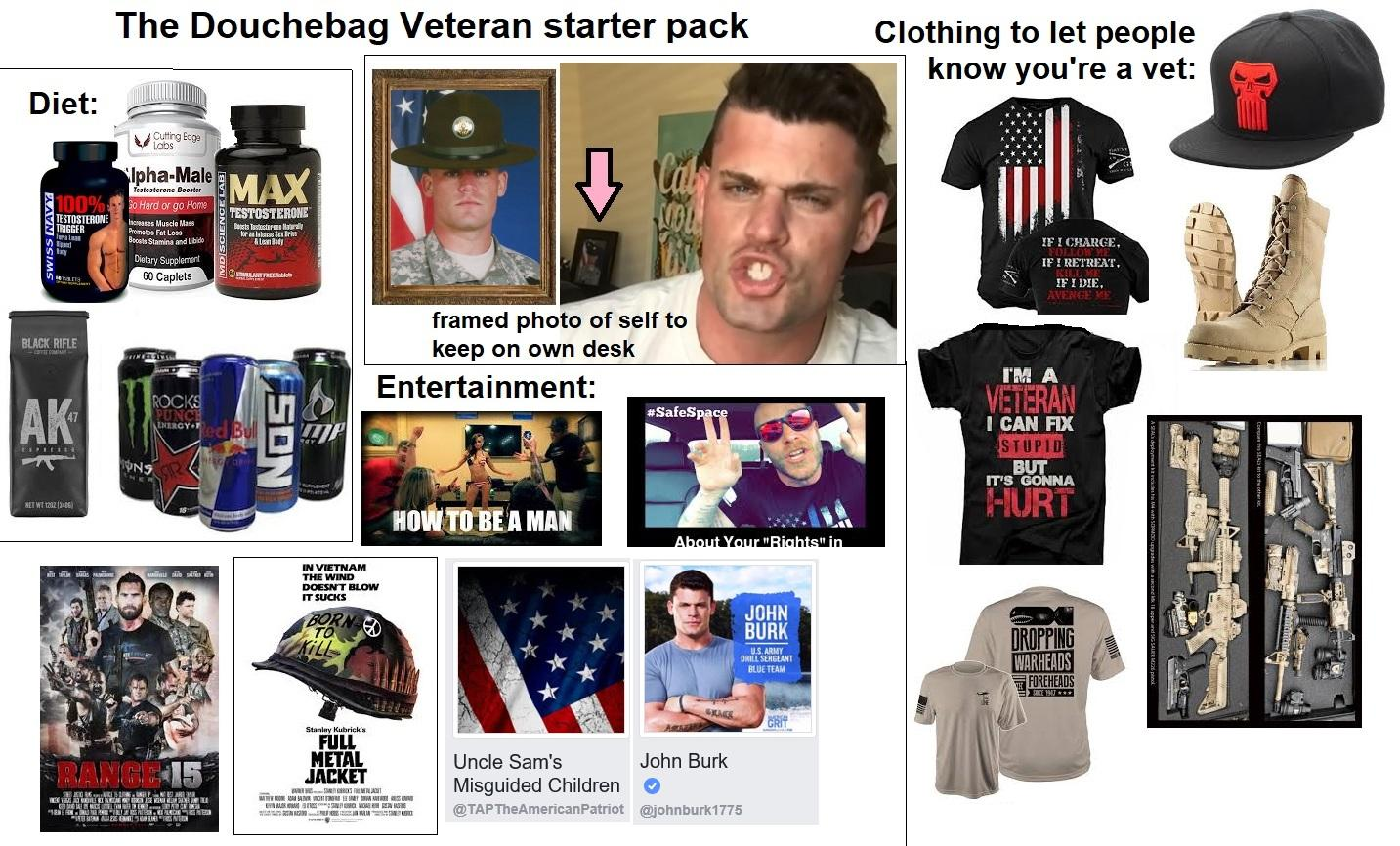 Part Douche The Douchebag Veteran Starter Pack Starterpacks