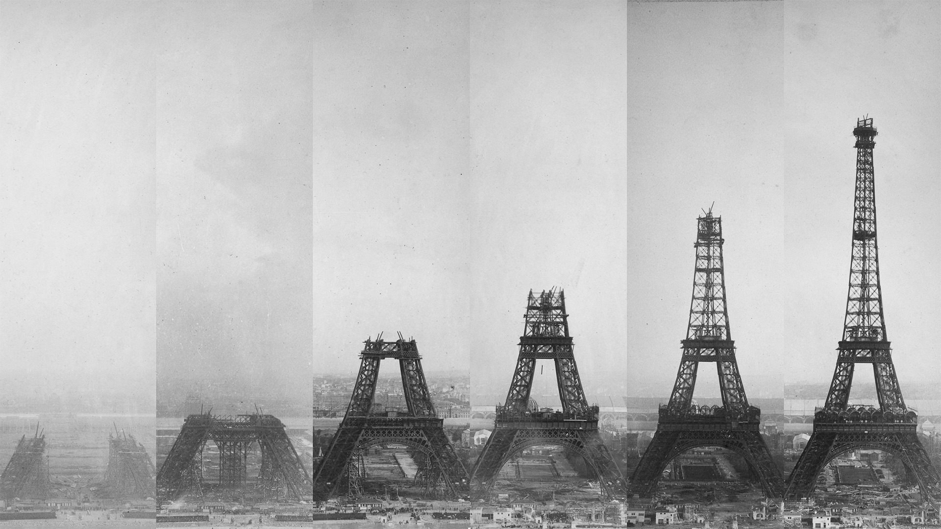 Free Fall Wallpaper For Iphone 6 Eiffel Tower Under Construction 1920 215 1080 Wallpapers
