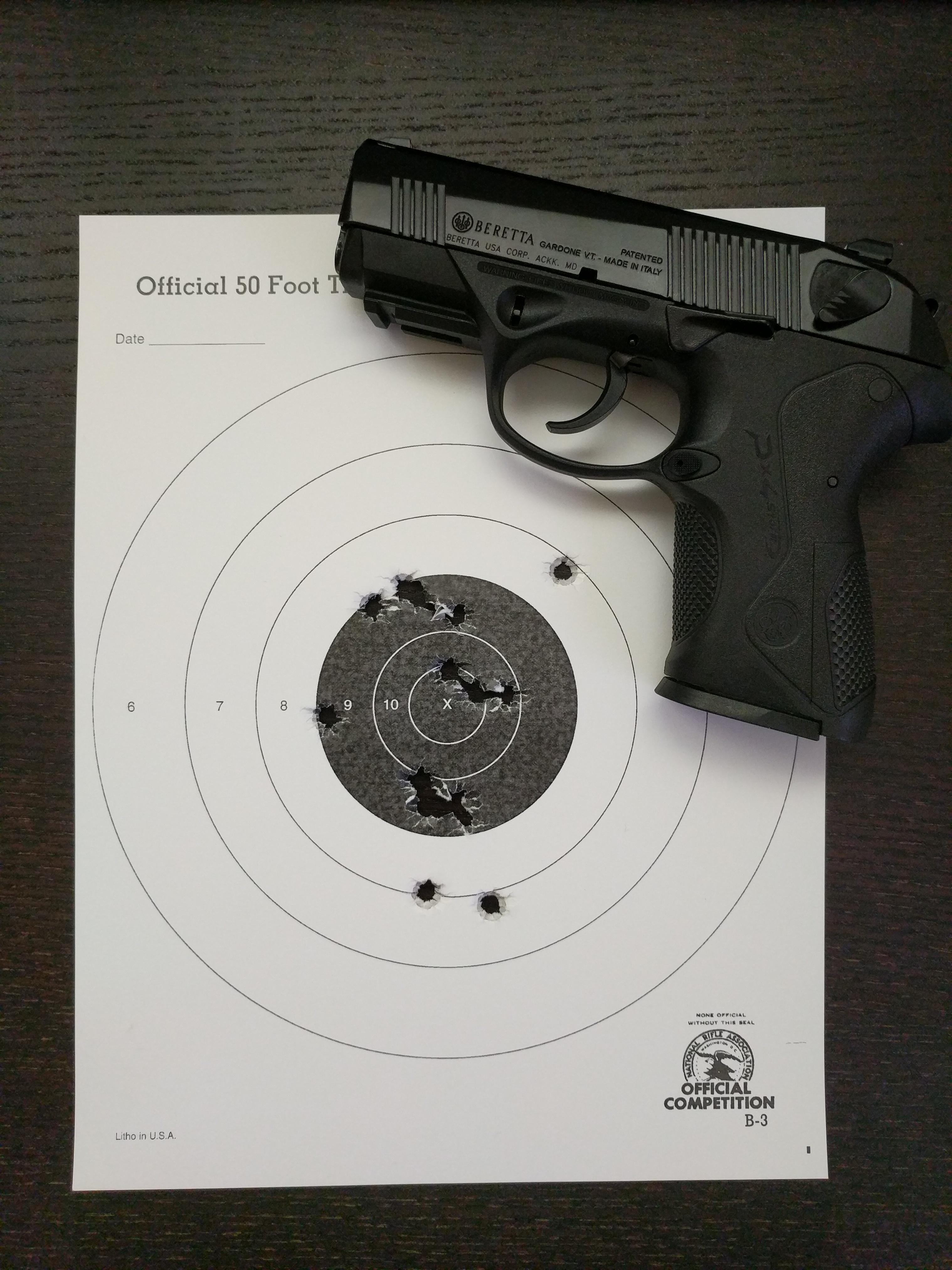 Compact Bad Px4 Storm Compact 15 Rounds At 7 Yards Not Bad For Someone