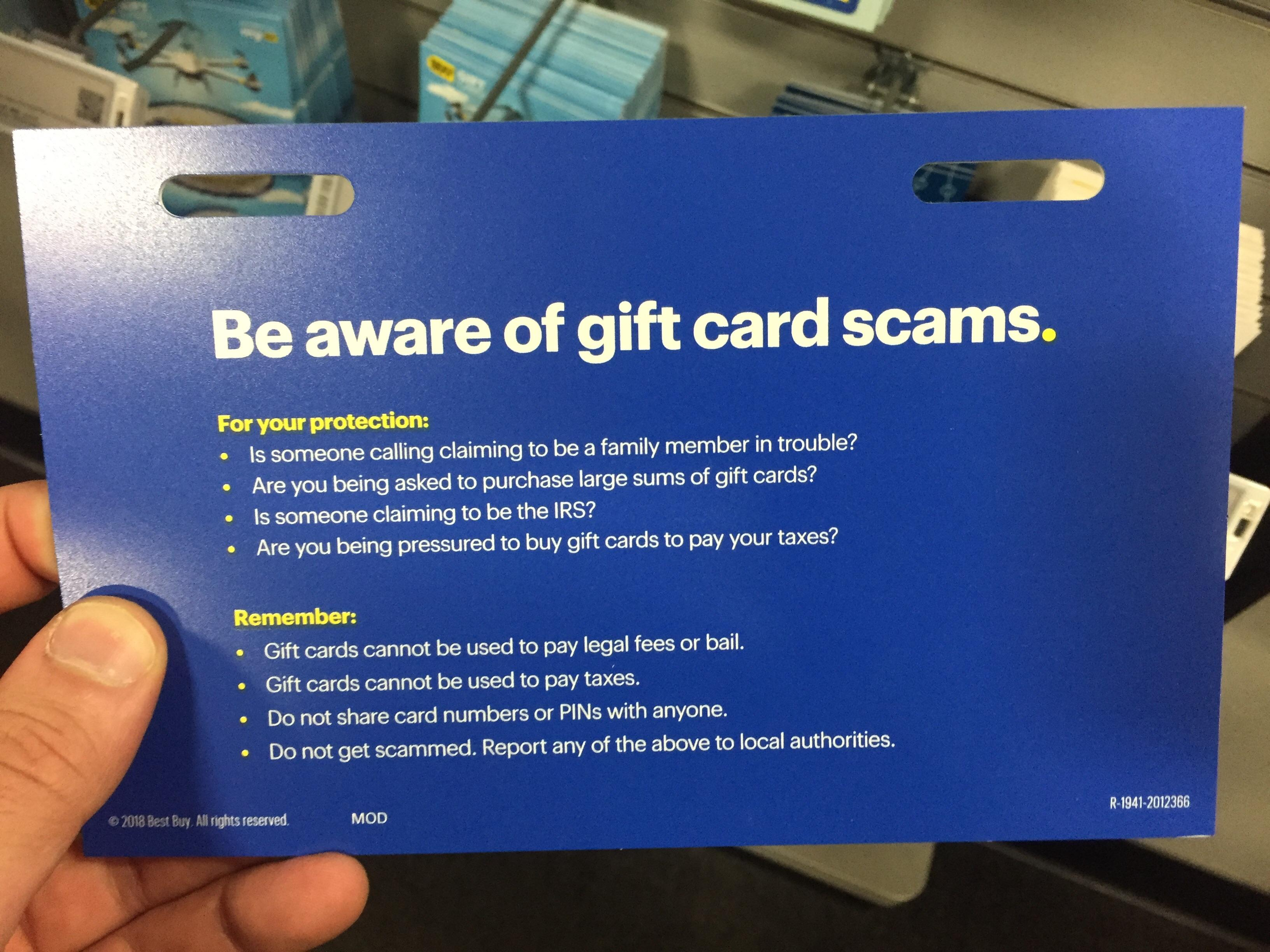 Best Place To Get Gift Cards These Scam Deterrents At Best Buy S Gift Card Rack