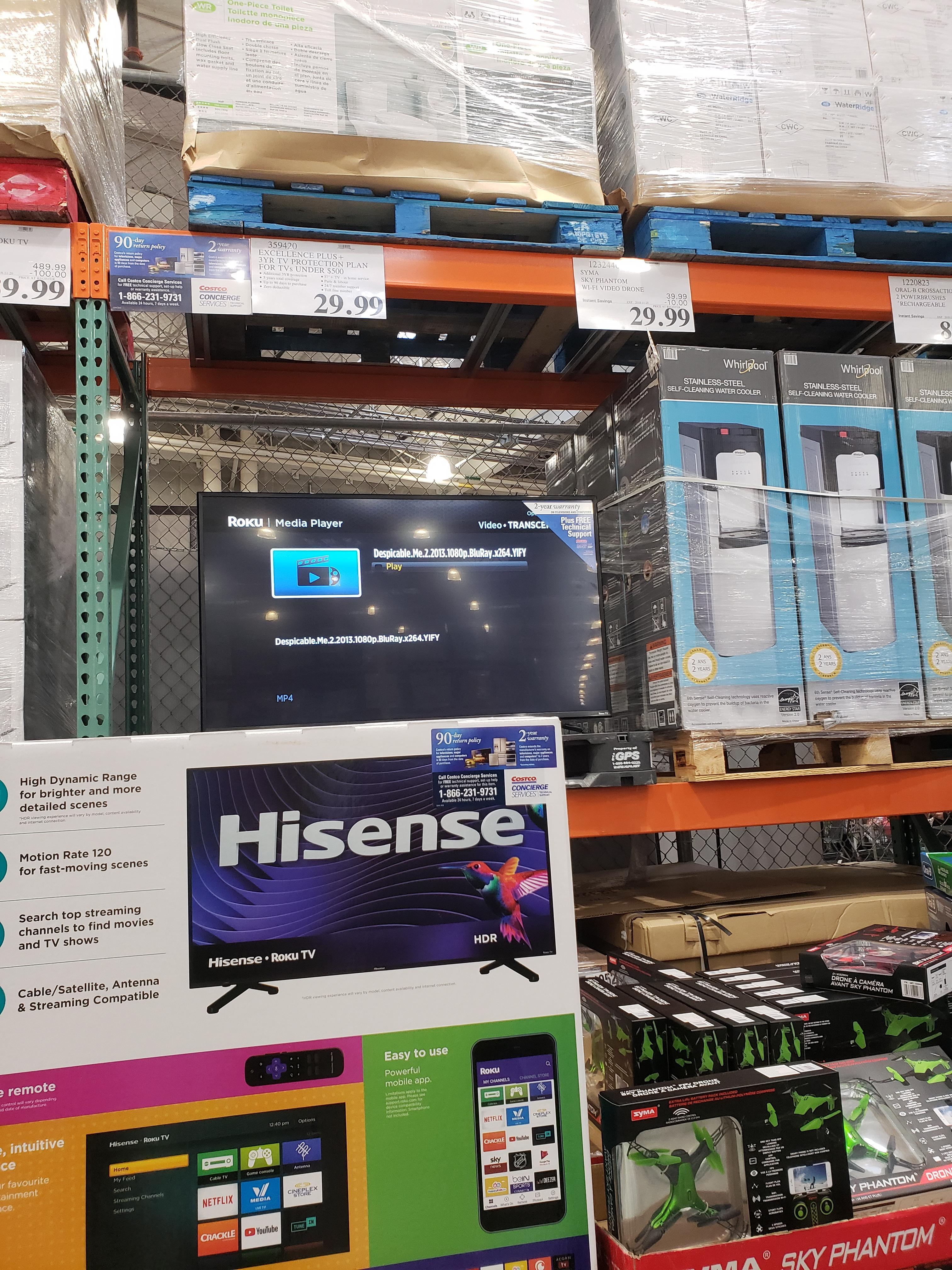 Tv At Costco Canada A Costco In Canada Showing Pirated Movies On A Demo Tv Piracy