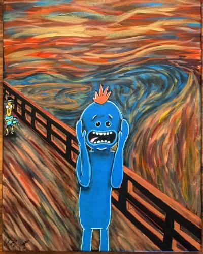 My Existence is Pain!! : painting