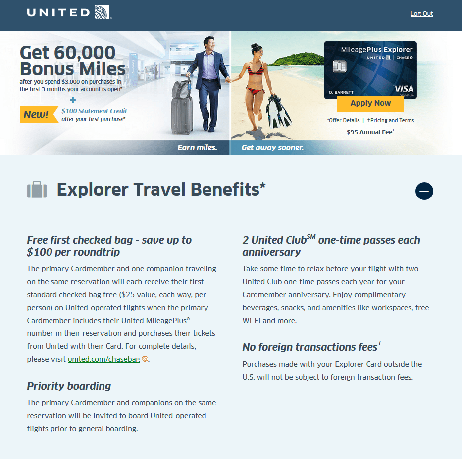 United Credit Card Customer Service Targeted United Mileageplus Explorer Card 60k 100 Churning
