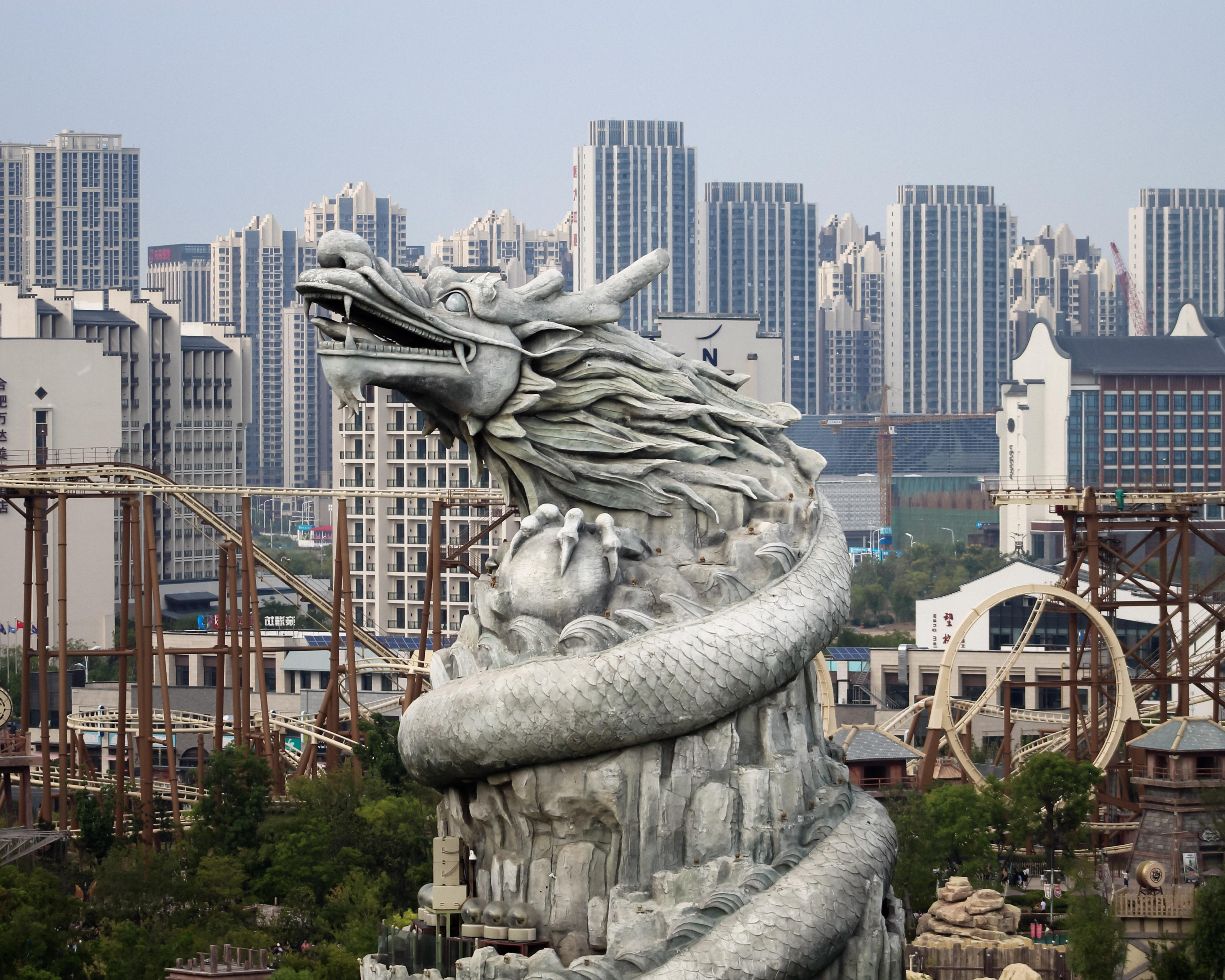 Giant Dragon Statue What Park Wouldn T Be Improved By Adding A Giant Dragon Hefei