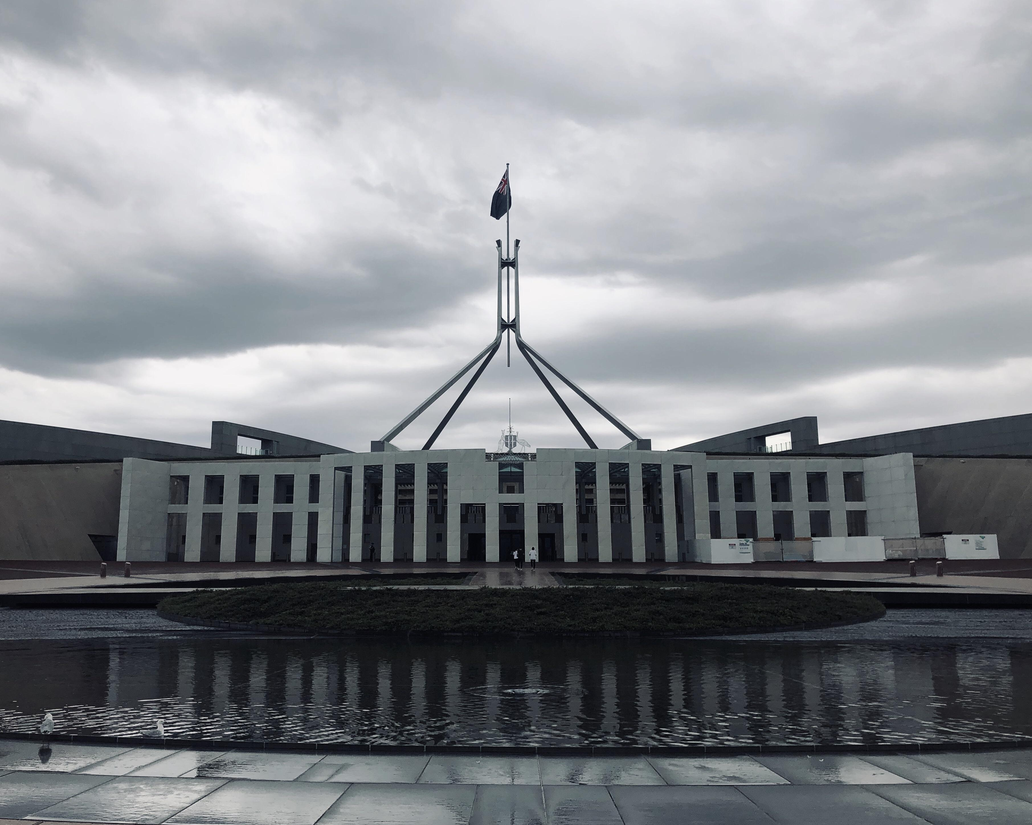 Canberra Today Parliament House Today In Canberra Australia Evilbuildings