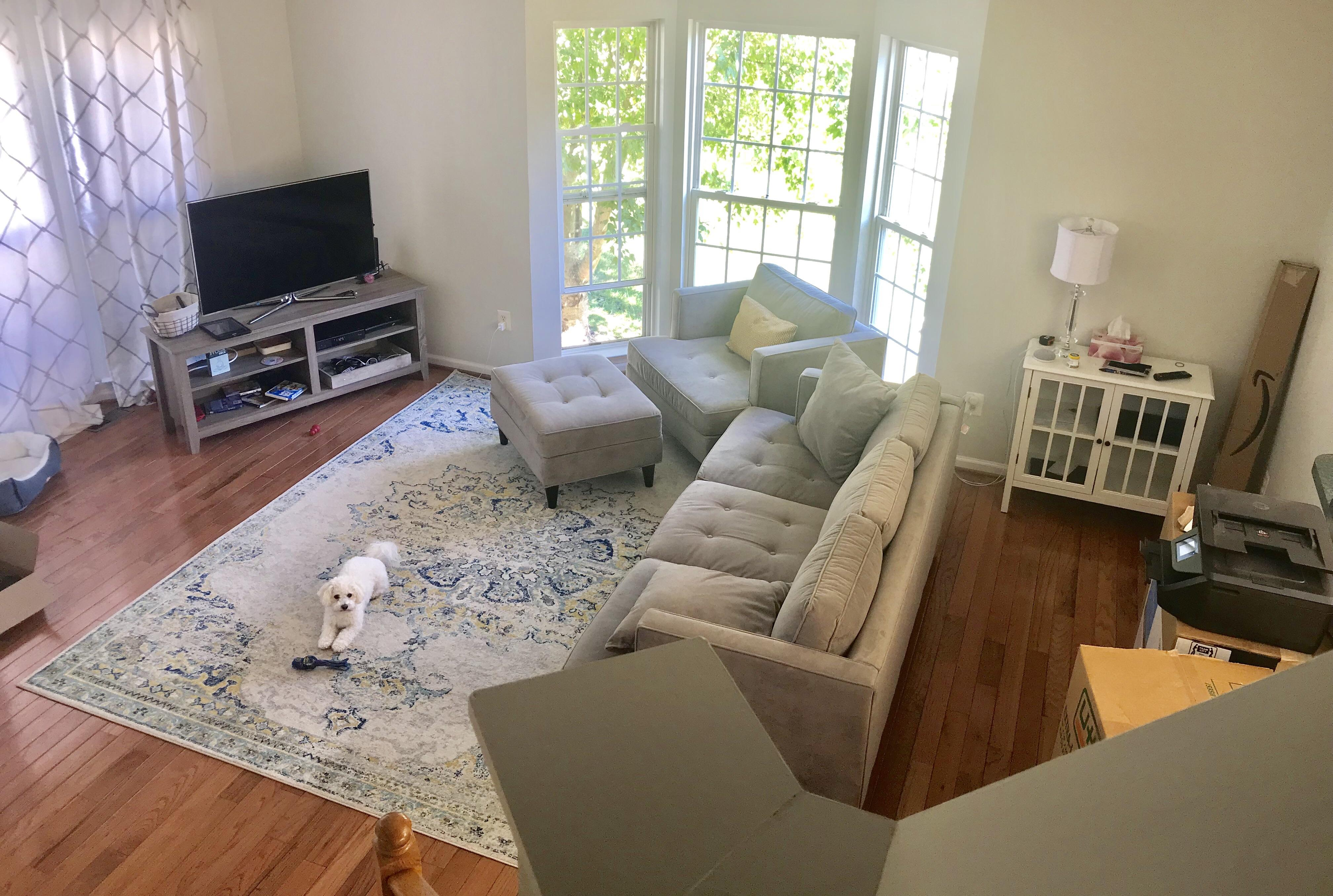 Sofa Couch Reddit Need Help With Furniture Rug Placement Bay Window On The Left And