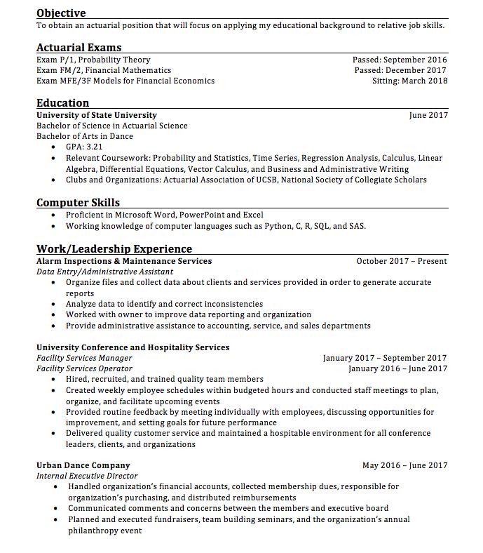 reddit resume excel