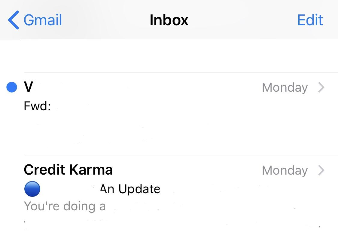 Credit Karma Credit Karma Uses A Blue Dot Emoji In The Subject Field To