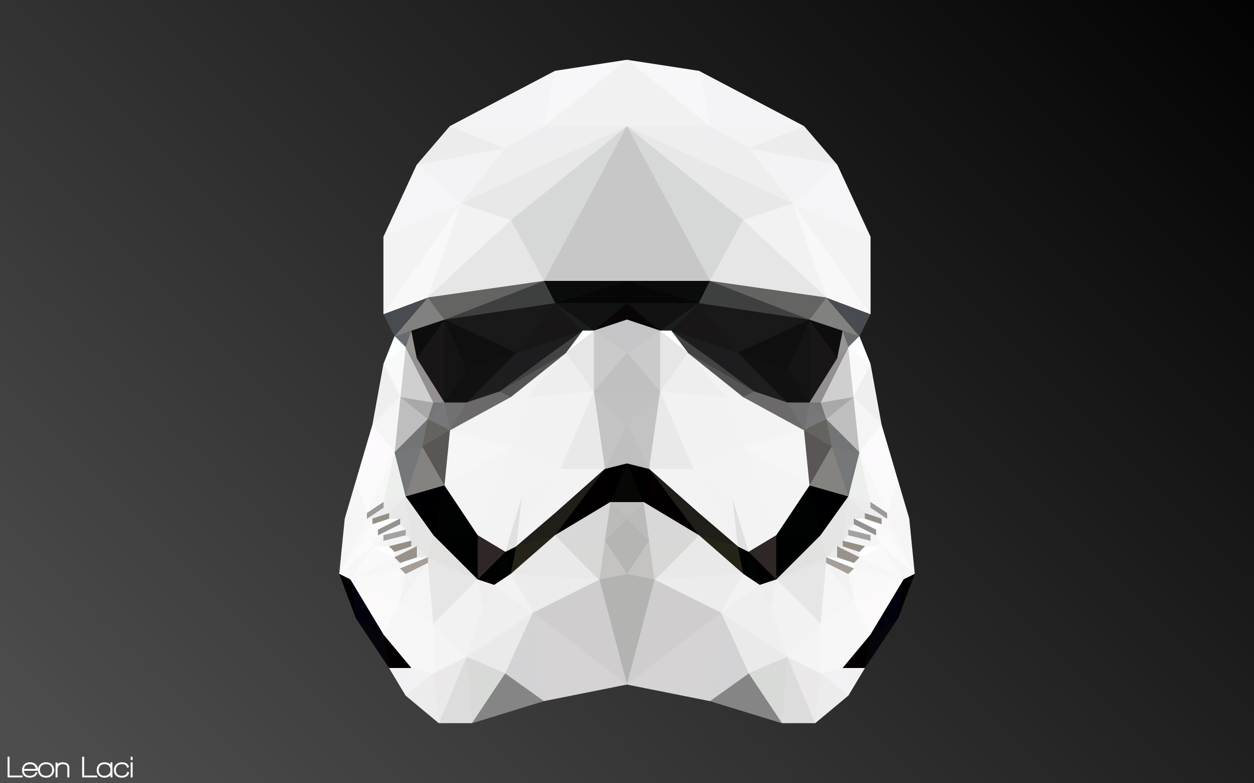 Darth Vader Iphone Wallpaper Hd Stormtrooper Helmet Low Poly 2560x1600 Wallpapers