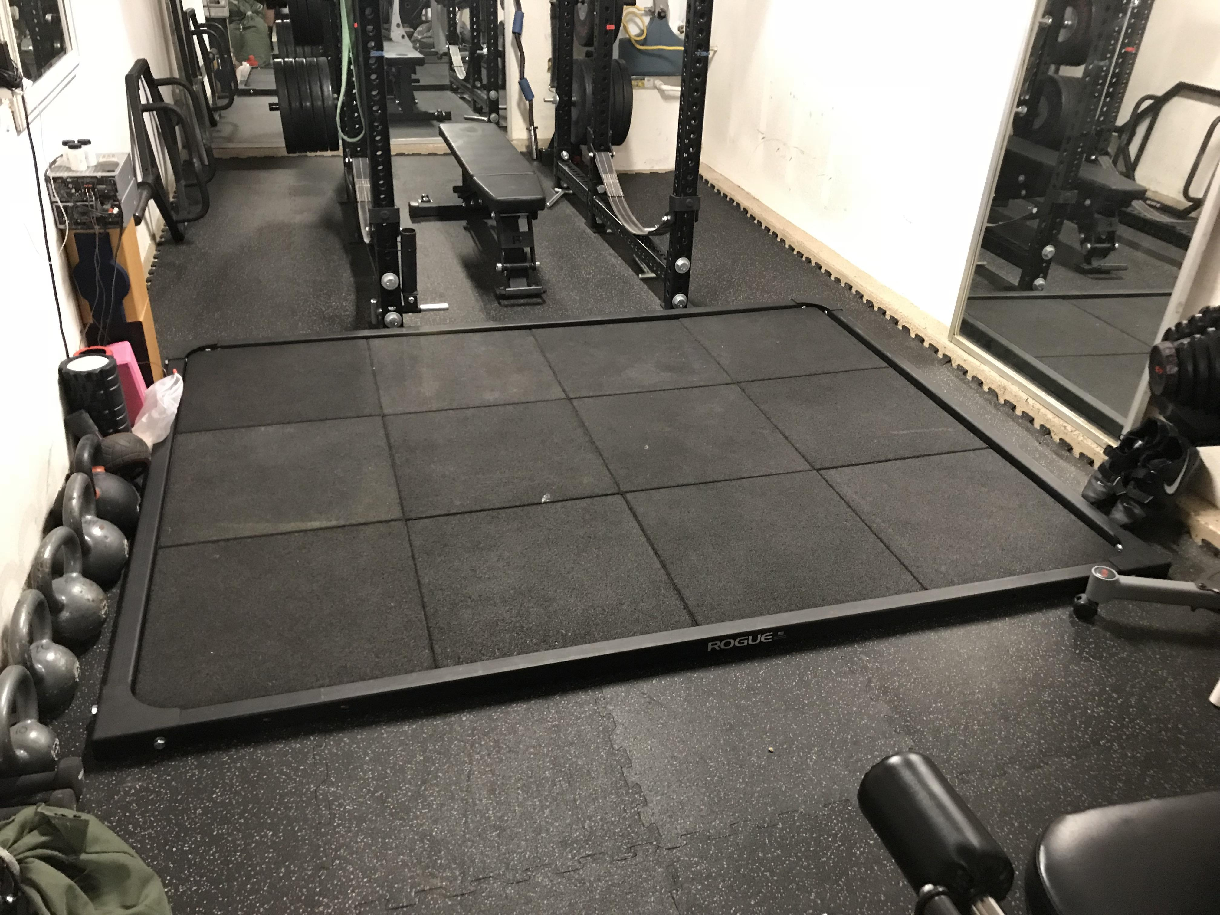 Garage Gym Reviews Diy Platform Newest Addition To The Garage Gym Rogue Ol 1 Olympic Lifting