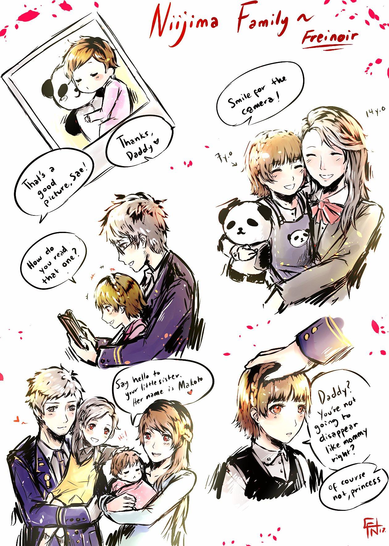 Cute Cartoon Family Wallpaper Nijima Family By Freinoir Persona5