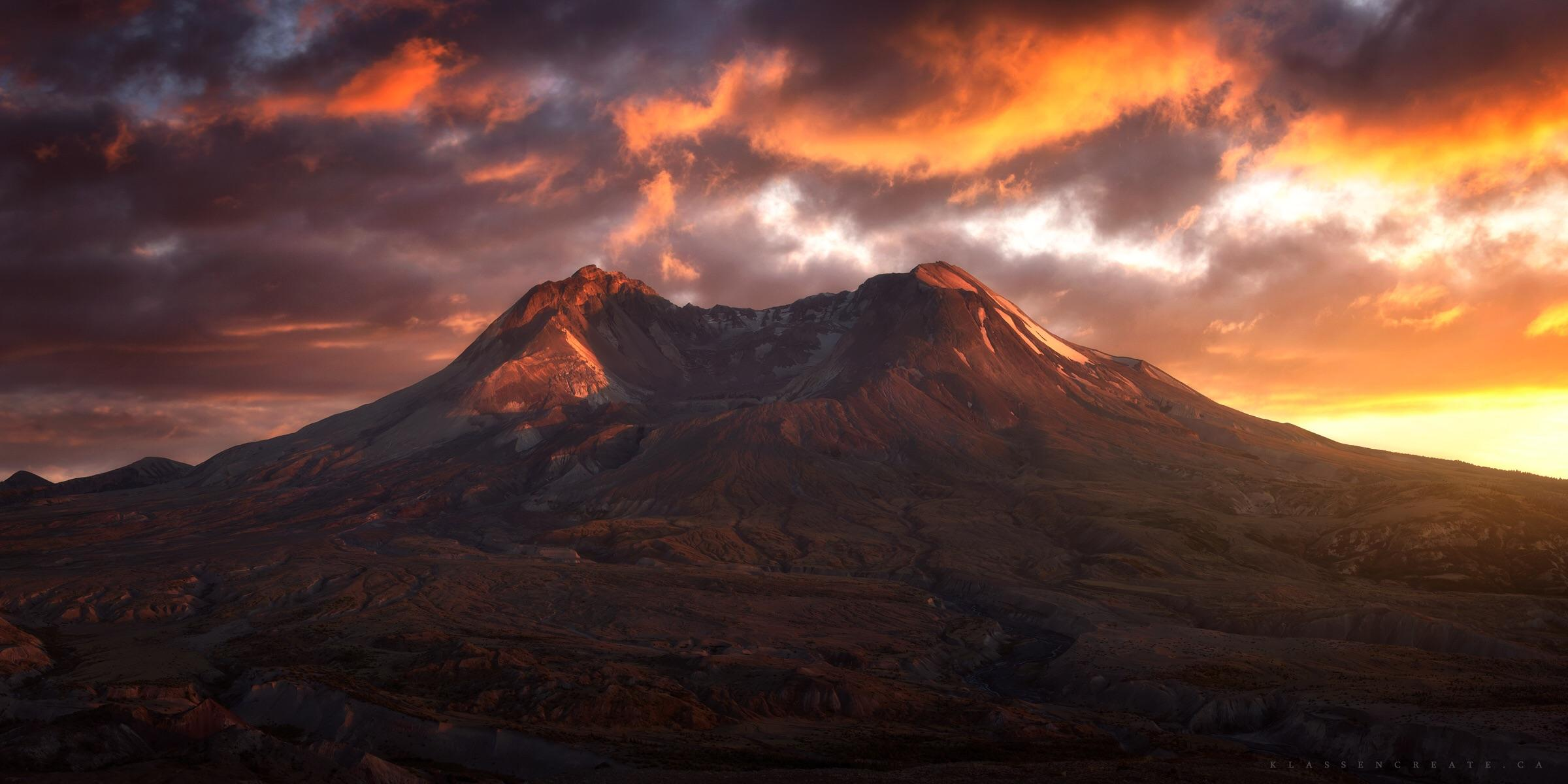 Yosemite Lava Falls Wallpaper The Glorious Mt St Helens Basking In The Last Light Of The