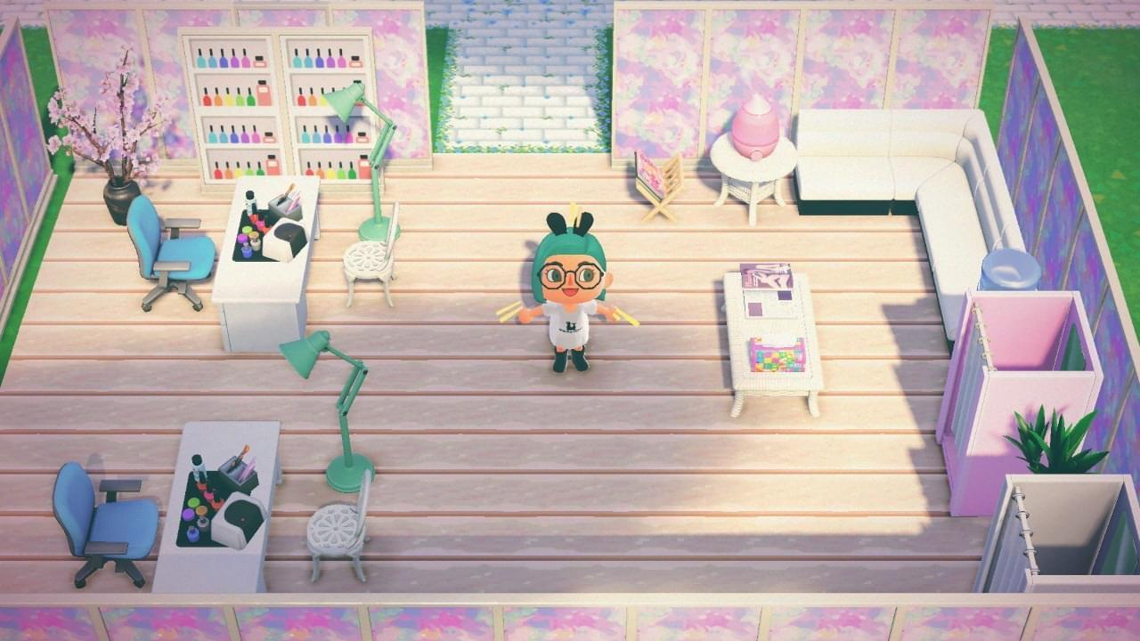 I Made A Nail Salon This Is The First Time I Ve Ever Made Qr But I Made The Nail Polish Shelves 3 Animalcrossing