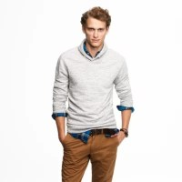 Fleece shawl-collar pullover : | J.Crew
