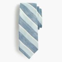 Silk-Linen Tie in Stripe : Men's Ties | J.Crew