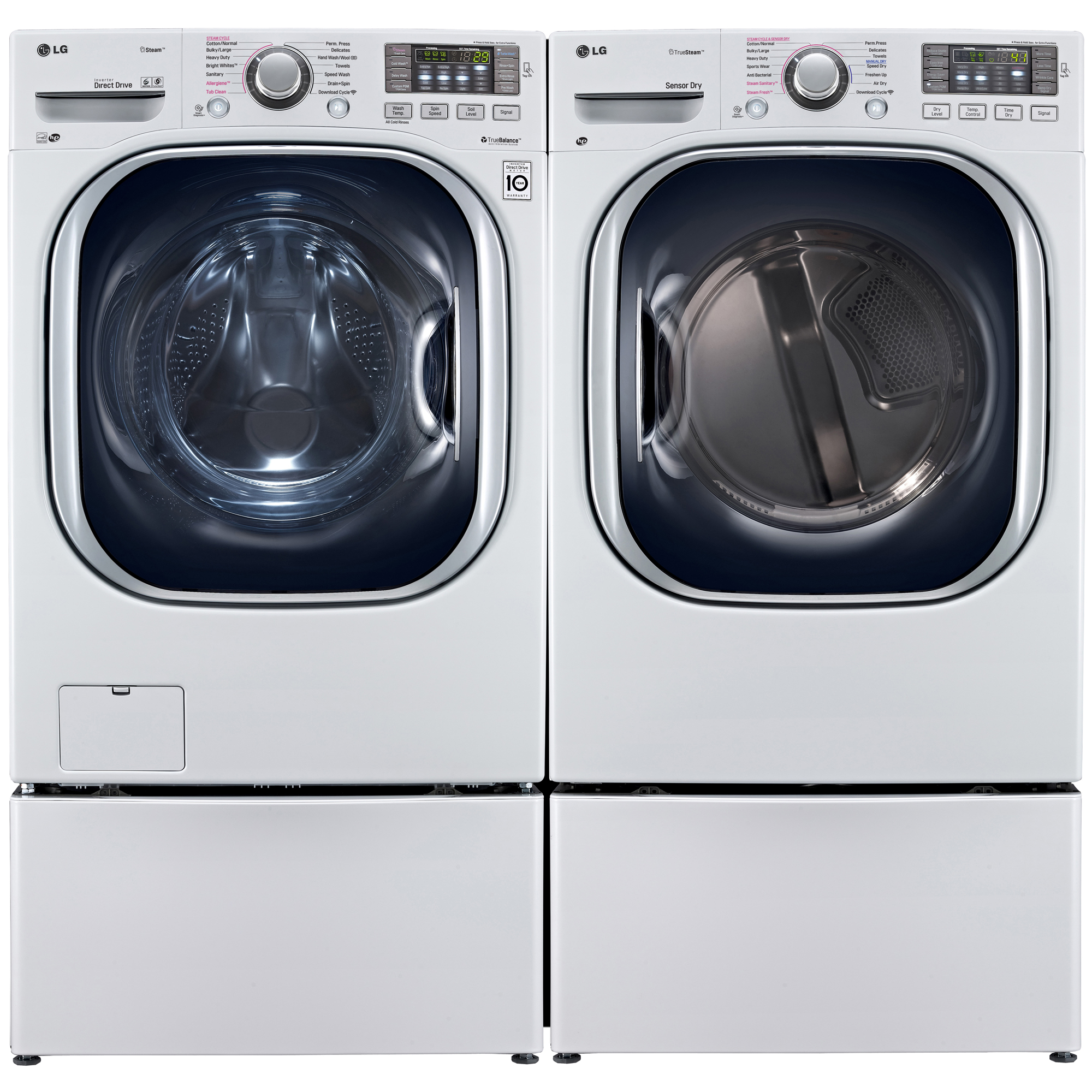 Sears Washer And Dryer Canada Lg Wm4270hwa 4 5 Cu Ft Front Load Washer W Turbowash Technology White