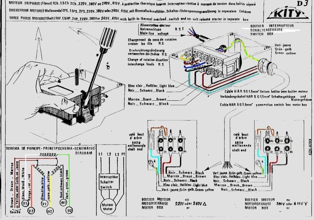 ferrari schema moteur electrique 380v