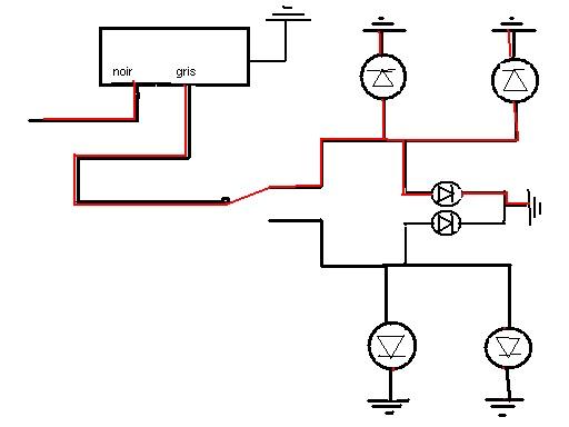 schema cablage indicator lights