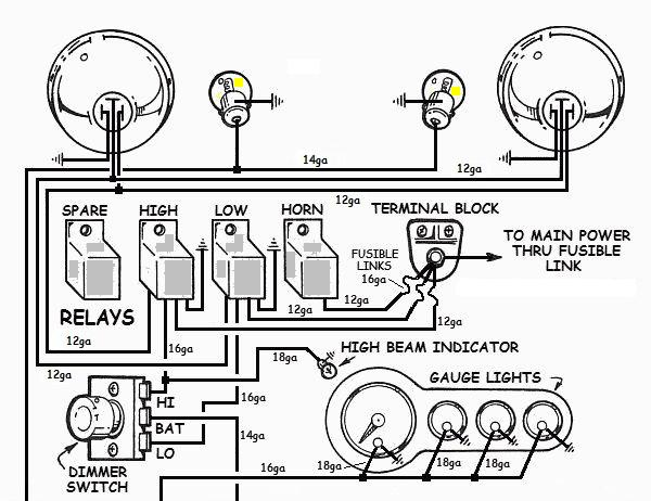 basic car wiring with turn signals