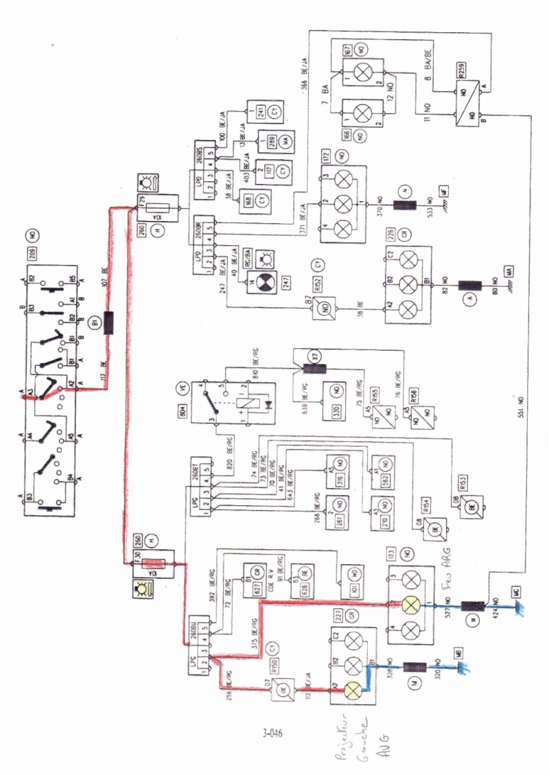 tel co vu auto electrical wiring diagramrenault safrane 2 1 dt rt phase 1 b54605 probl u00e8me de feux avant gauche