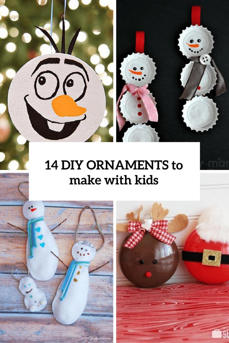 diy childrens christmas ornaments home decorating interior