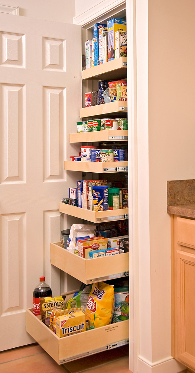 roll pantry great solution small kitchen simple kitchen cabinets store food supplies