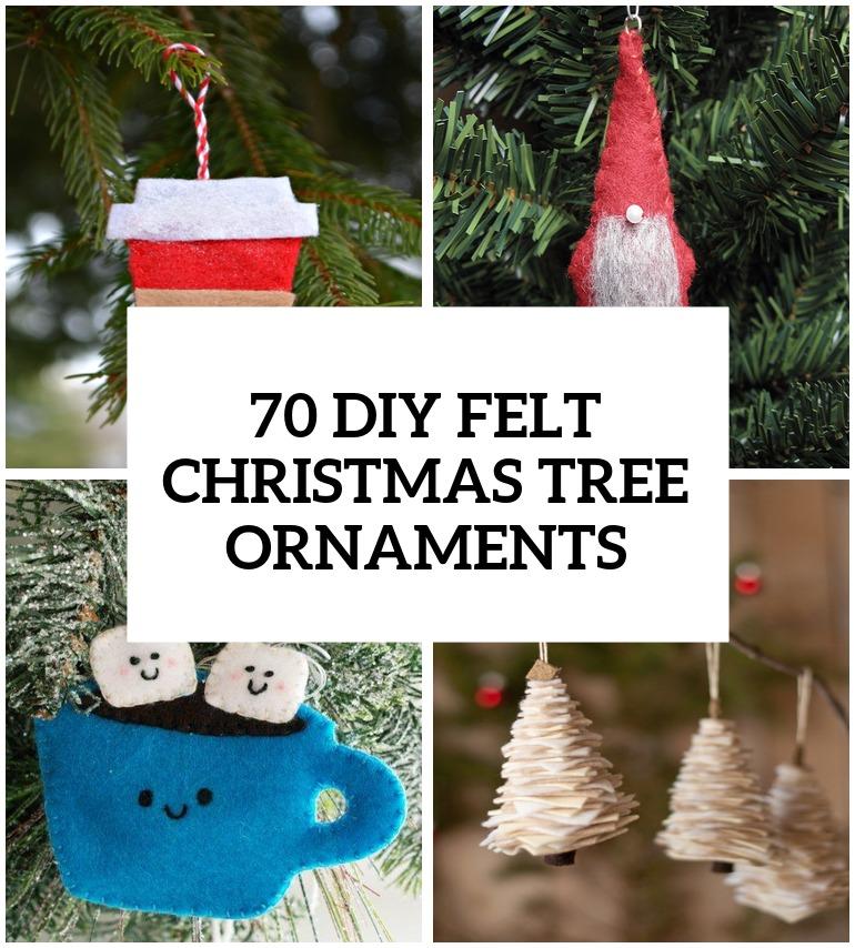 scandinavian felt christmas ornaments - Rainforest Islands Ferry - felt christmas decorations