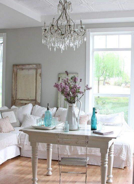 85 Cool Shabby Chic Decorating Ideas - Shelterness - country chic living room