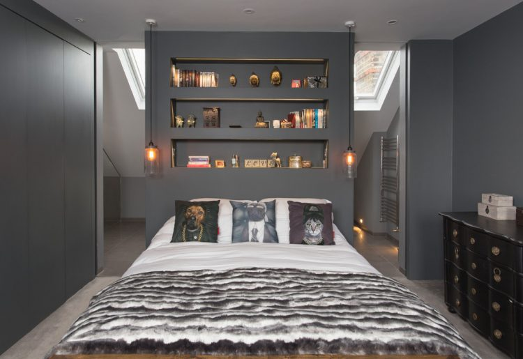 Schlafzimmer Schrank Hinterm Bett 45 Cool Ideas To Use Space Behind The Bed Shelterness