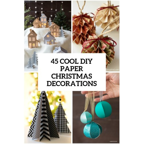 Medium Crop Of Paper Christmas Decorations