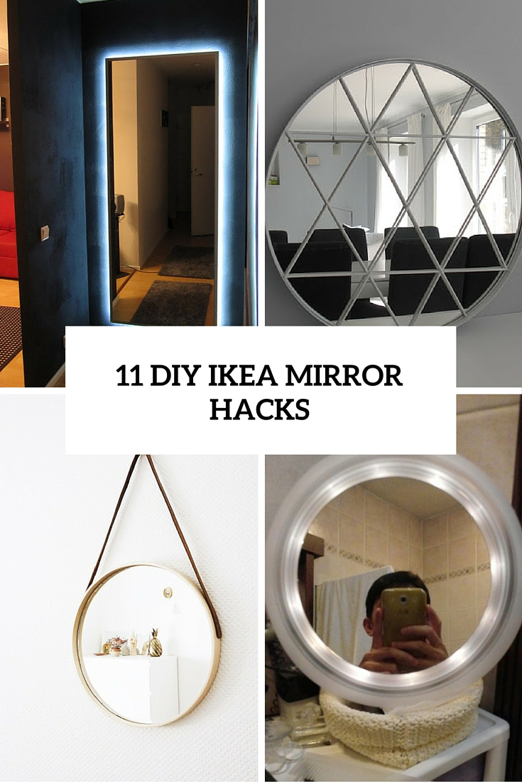 Ikea Mirror Tiles 11 Beautiful Diy Ikea Mirrors Hacks To Try Shelterness