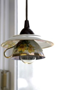 Eye-Catchy DIY Teacup Pendant Light Shades - Shelterness