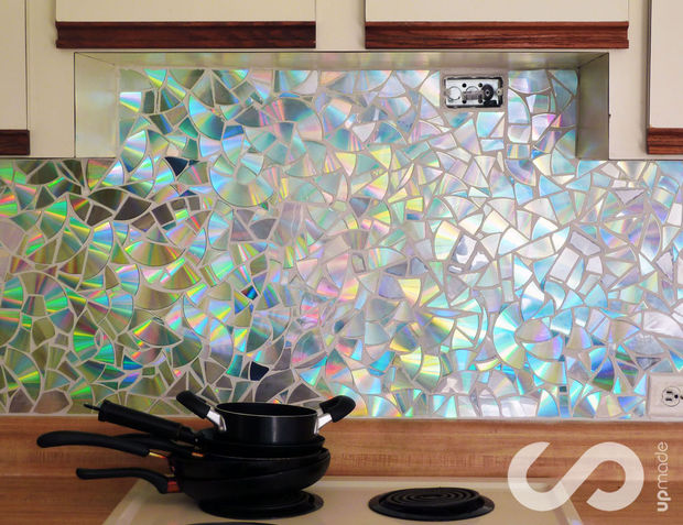 cute bold diy mosaic kitchen backsplashes shelterness recycled glass backsplash
