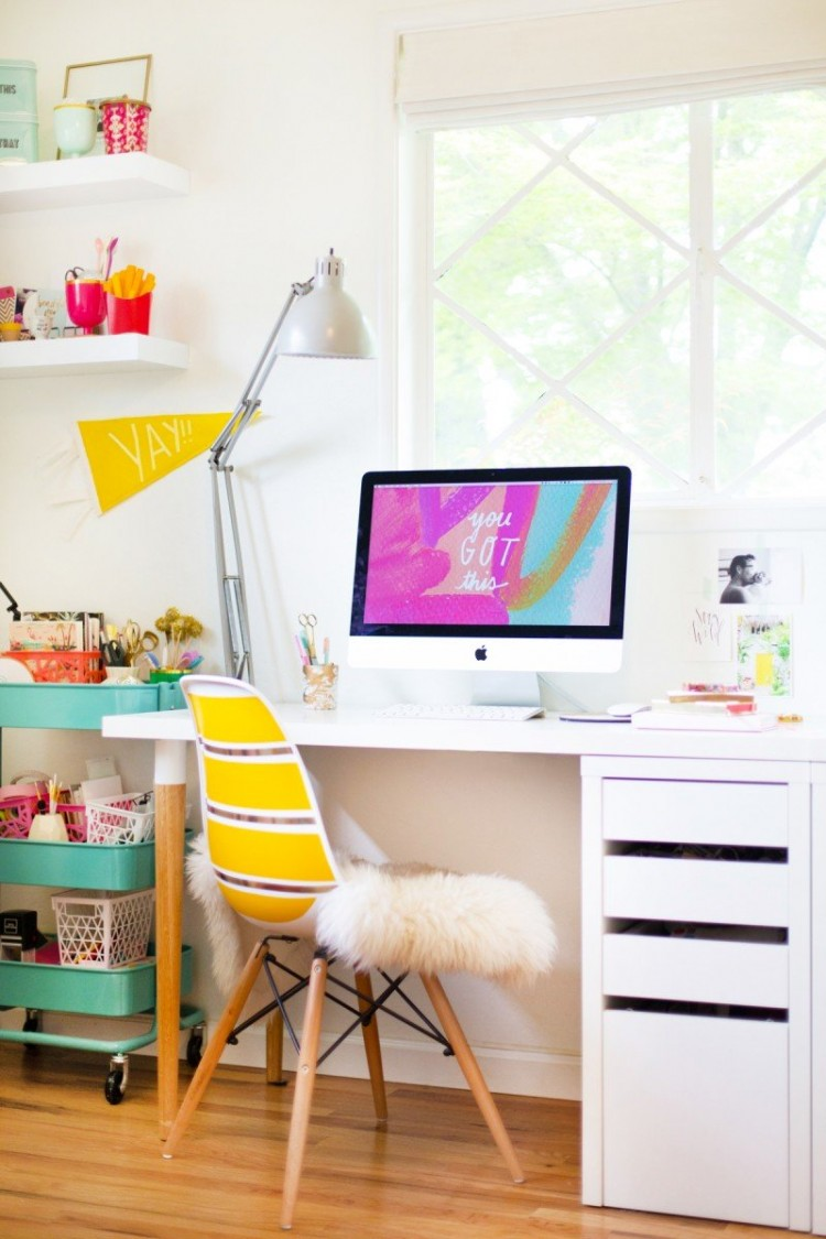 Industrial Bedside Table Easy And Cool Diy Ikea Desk Hack - Shelterness