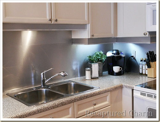 diy modern steel backsplash recapturedcharm kitchen built modern kitchen appliances ultra built modern