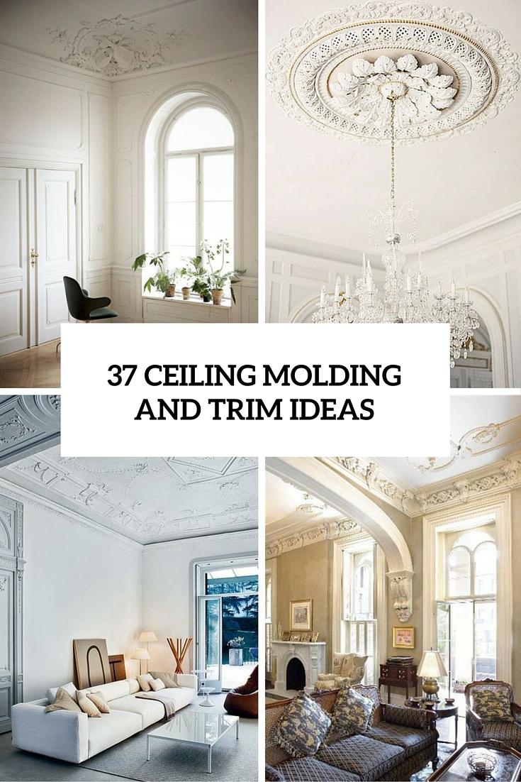 Moulding Trim 37 Ceiling Trim And Molding Ideas To Bring Vintage Chic Shelterness