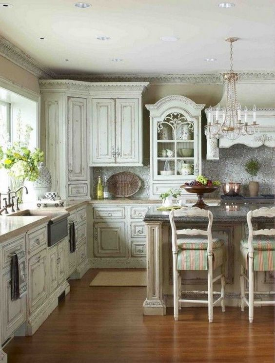 Beautiful Kitchens With Islands 32 Sweet Shabby Chic Kitchen Decor Ideas To Try - Shelterness