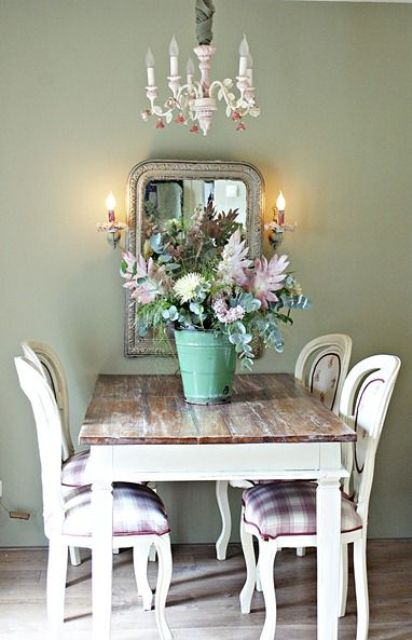 Shabby Look 26 Ways To Create A Shabby Chic Dining Room Or Area