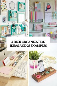 diy desk organizers Archives - Shelterness