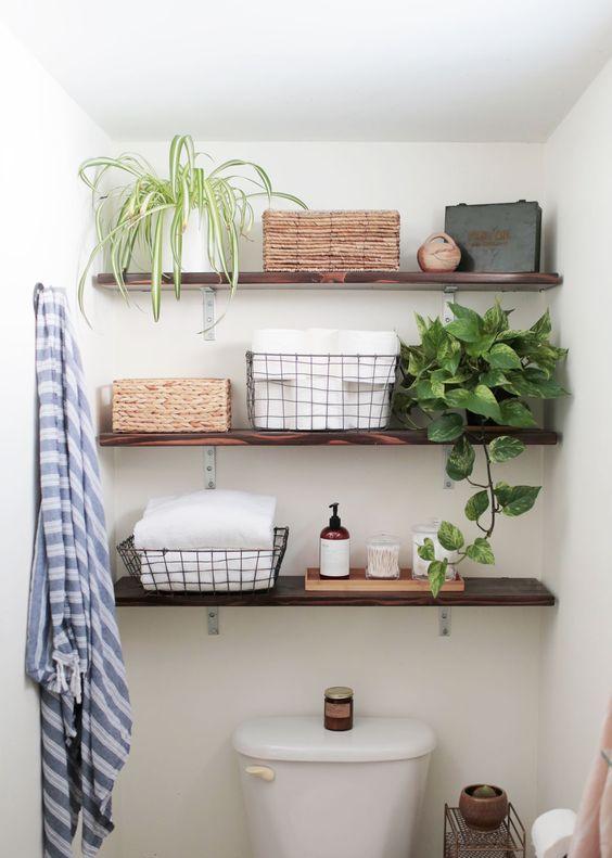 26 simple bathroom wall storage ideas shelterness