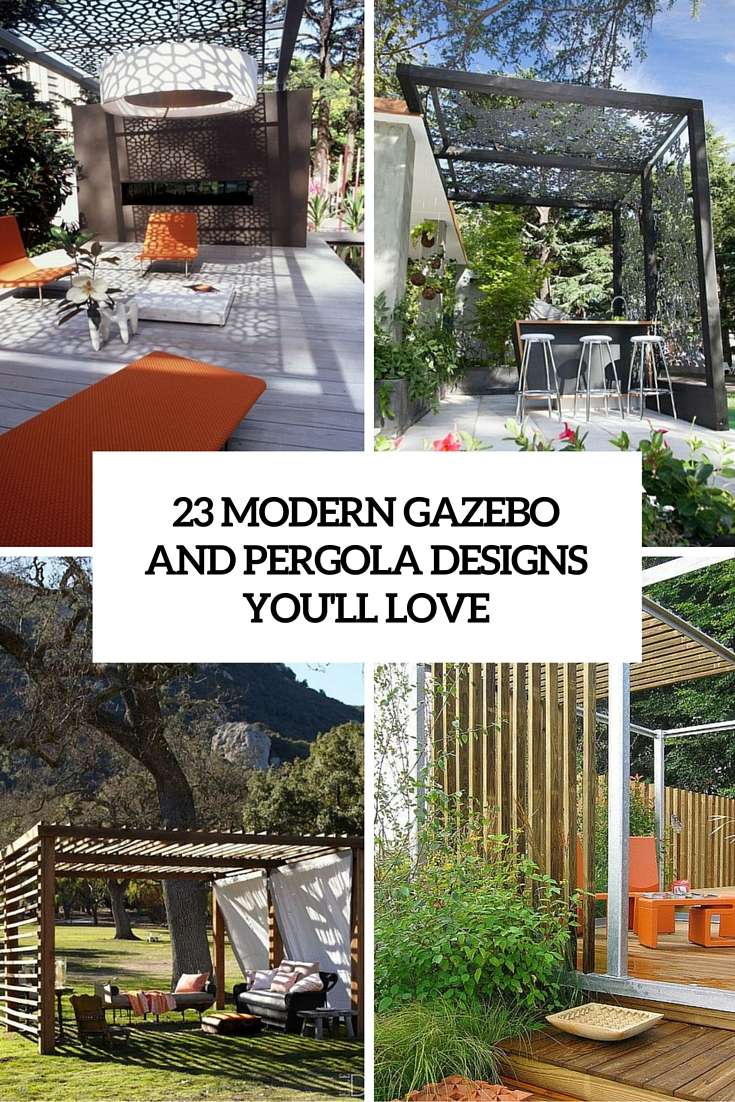 Pergola Designs 23 Modern Gazebo And Pergola Design Ideas You Ll Love Shelterness