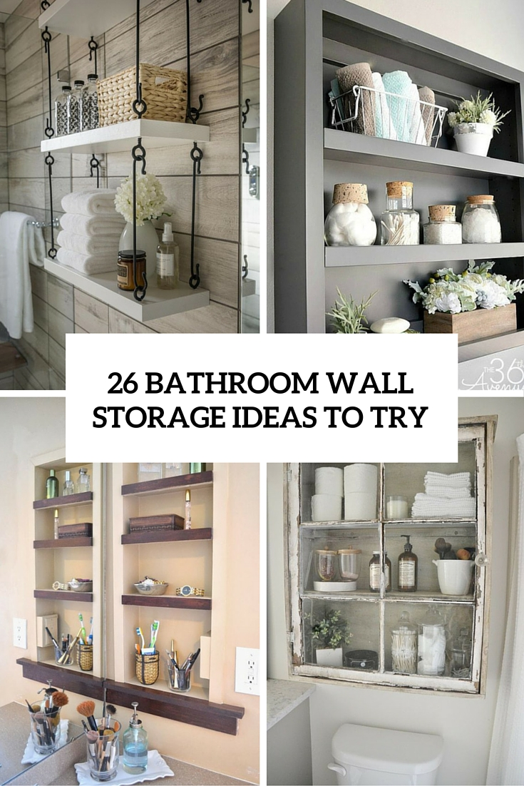 On Style Today 2021 02 06 Cool Bathroom Wall Storage Ideas Here