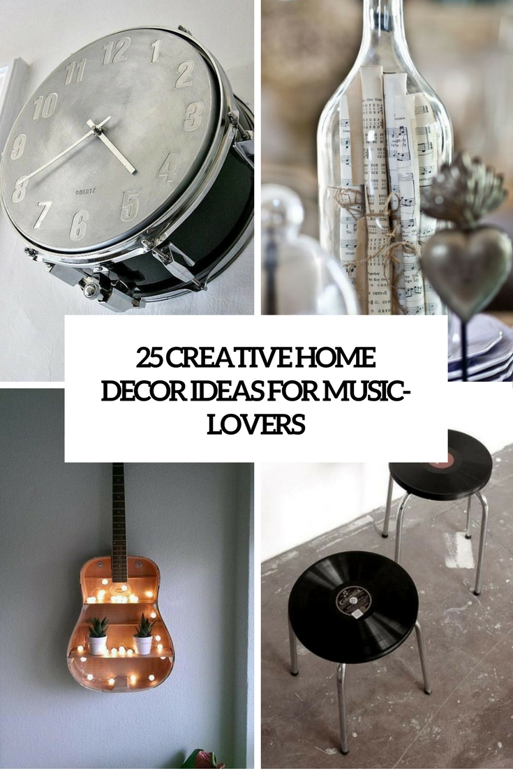 Déco Murale Diy 25 Creative Home Décor Ideas For Music Lovers Shelterness