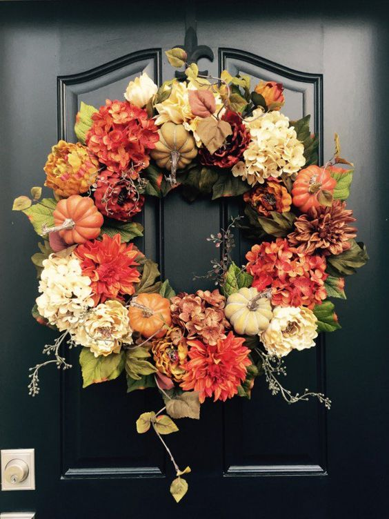 Deco Cool 26 Fall Wreath Ideas For Your Front Door Décor - Shelterness
