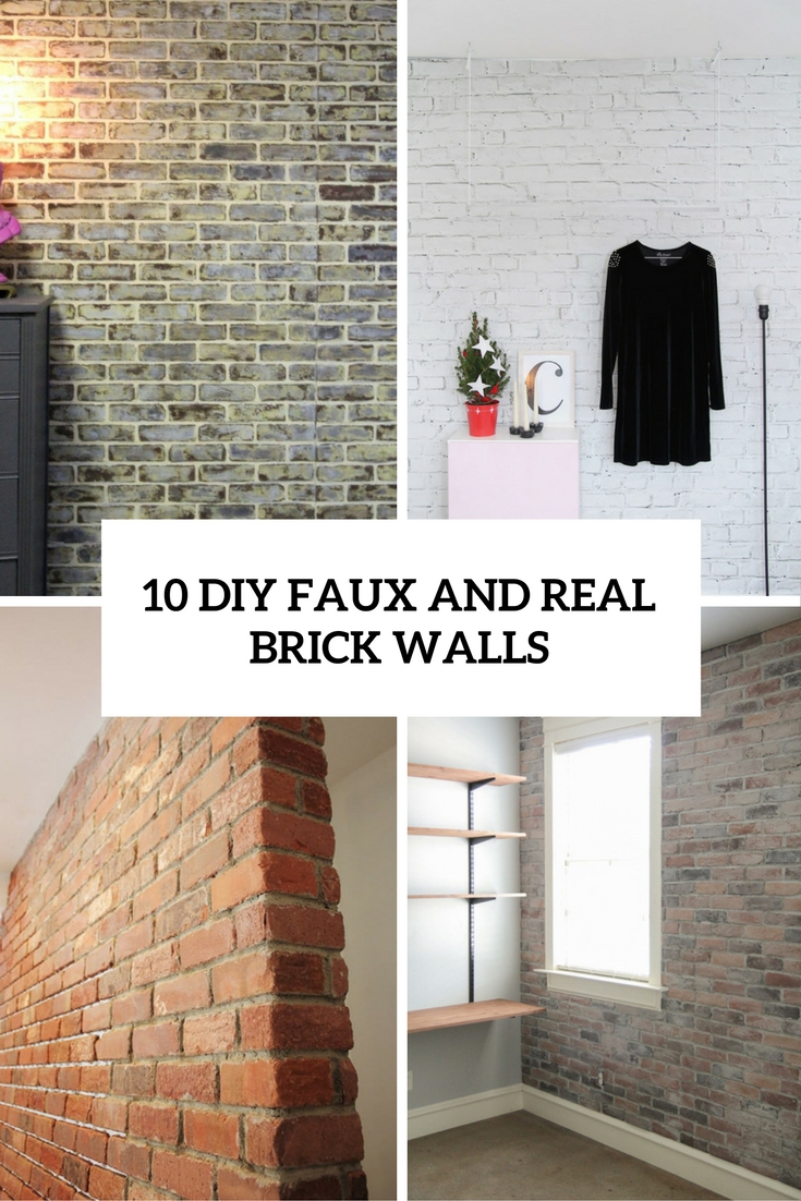 Large Of Faux Brick Wall
