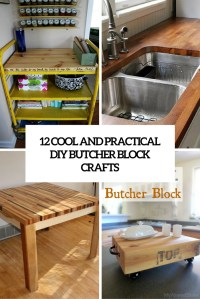 12 Cool And Practical DIY Butcher Block Crafts - Shelterness