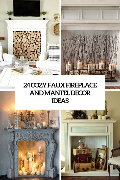 Medium Of Faux Fireplace Mantel